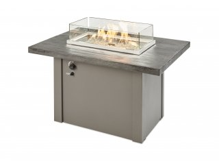 Stone Grey Havenwood Gas Fire Pit Table with Grey Base for your outdoor living space, patio or deck by The Outdoor GreatRoom Company