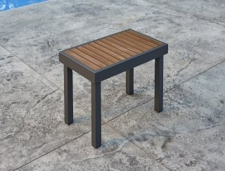 Modern, easy to maintain Kenwood Short Bench by The Outdoor GreatRoom Company for your patio or deck