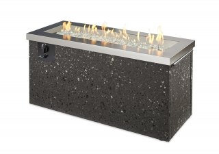 Trendy, modern design Stainless Steel Key Largo Gas Fire Pit Table by The Outdoor GreatRoom Company for your dream patio or backyard