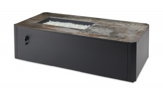 Modern, transitional, unique Kinney Rectangular Gas Fire Pit Table by The Outdoor GreatRoom Company for your patio or backyard design