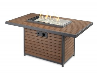 Modern, welcoming design Kenwood Rectangular Gas Fire Pit Table by The Outdoor GreatRoom Company for your dream patio or deck area