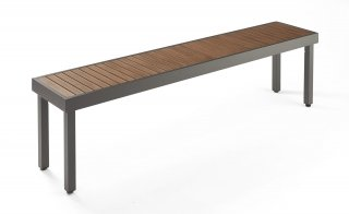 Easy to care for, modern design Kenwood Long Bench by The Outdoor GreatRoom Company for your patio or backyard