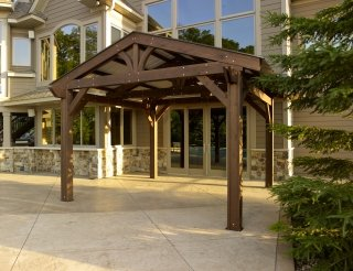 Lodge II Pergola with Metal Roof