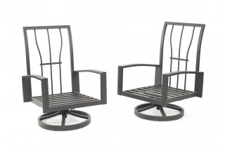 Durable, reliable powder-coated aluminum Lyndale Highback Swivel Rocking Chair Frames by the Outdoor GreatRoom Company