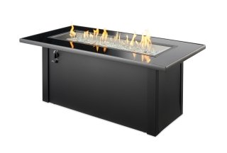 Durable, trendy style Monte Carlo Gas Fire Pit Table by The Outdoor GreatRoom Company for your deck or patio