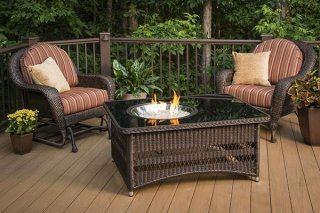 Durable, stylish look Naples Gas Fire Pit Table by The Outdoor GreatRoom Company for your beautiful deck or patio design