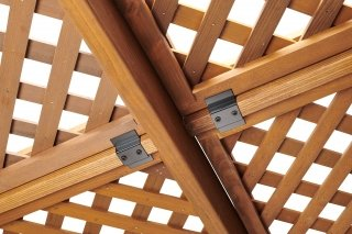 Redwood Sonoma Pergola Lattice Roof by The Outdoor GreatRoom Company for your patio, deck or backyard space