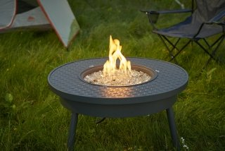 Easy to use and transport Renegade Portable Gas Fire Pit Table by The Outdoor GreatRoom Company for your tailgate party, RV trip, or camping adventure