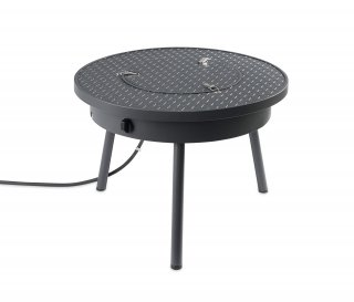 Versatile, trendy design Renegade Portable Gas Fire Pit Table with Cover by The Outdoor GreatRoom Company for a table and fire pit during camping trips, RV trips, tailgating parties, and cozy spaces