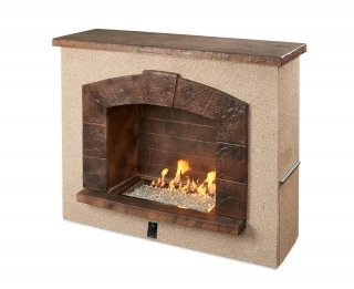 Upscale, quality design Stone Arch Gas Fireplace by the Outdoor GreatRoom Company for your unique patio or backyard
