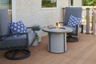 Grey Stonefire Gas Fire Pit Table The Outdoor Greatroom Company