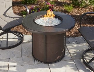 Versatile, Simple Style Stonefire Gas Fire Pit Table By The Outdoor  GreatRoom Company For Any