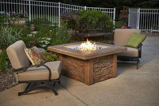 Unique, durable design Sierra Square Fire Pit Table by The Outdoor GreatRoom Company for your upscale patio or deck