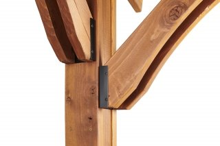 Redwood Sonoma Redwood Pergola Detailed Corbels by The Outdoor GreatRoom Company for your patio or backyard