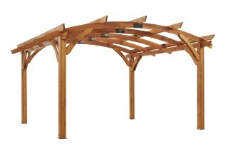 16' x 16' Redwood Sonoma Wood Pergola Kit