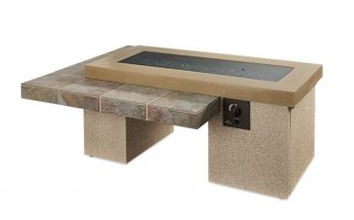 Trendy, modern style Brown Uptown Gas Fire Pit Table with Burner Cover by The Outdoor GreatRoom Company for your dream deck or patio