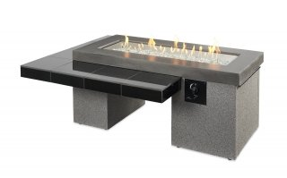 Modern, trendsetting design Black Uptown Fire Pit Table by The Outdoor GreatRoom Company for your dream backyard or deck space