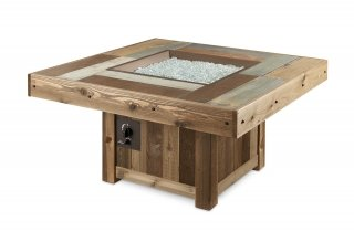 Unique, upscale design Vintage Rectangular Fire Pit Table by The Outdoor GreatRoom Company for your patio or backyard