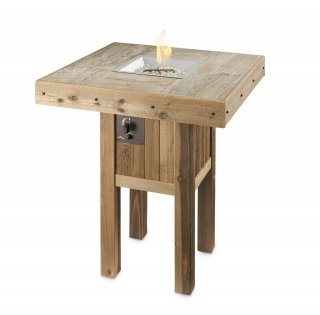 Stylish, distressed look Westport Pub Gas Fire Pit Table by The Outdoor GreatRoom Company for your patio or backyard design