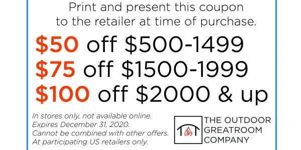 Coupon Download The Outdoor Greatroom Company