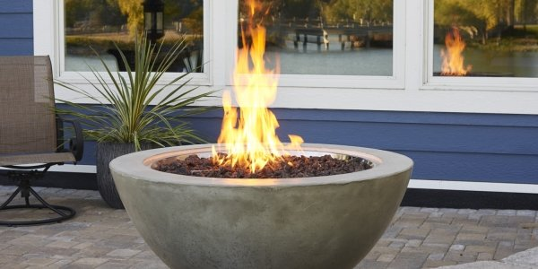 Unique, durable design Cove 30 Gas Fire Pit Bowl by The Outdoor GreatRoom Company for your patio or deck