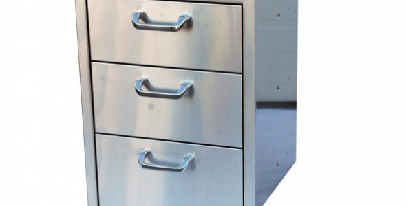 3-Drawer Stainless Steel Cabinet