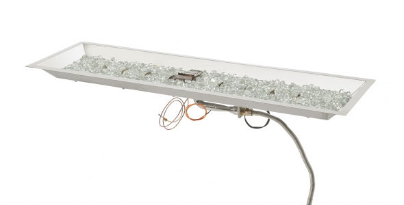 Crystal Fire Plus 12x42 burner with glass media inside of burner