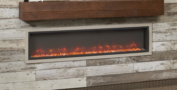 Non-combustible Fireplace Mantel and Modern Electric Fireplace