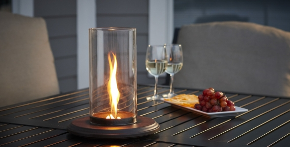 Unique, innovative design Intrigue Tabletop Lantern by The Outdoor GreatRoom Company for your patio table centerpiece or patio decor