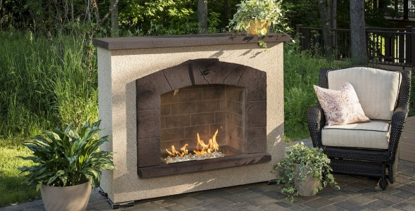 Stone Arch Gas Fireplace
